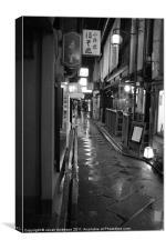 Dark and Rainy in Kyoto, Canvas Print