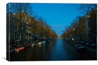 Prinsengracht Canal early morning, Canvas Print