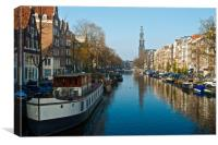 Sunny Day on the Prinsengracht, Canvas Print