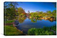 osaka garden pond, Canvas Print