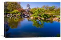 osaka japanese garden, Canvas Print
