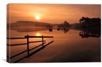 Knapps Loch Sunrise, Canvas Print