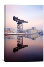 Glasgow Finnieston crane reflection, Canvas Print