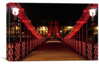 Glasgow suspension footbridge, Canvas Print