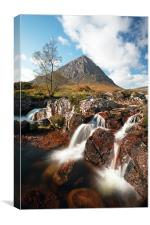Glen Etive waterfall, Glencoe, Canvas Print