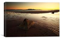 Seamill Sunset, Canvas Print