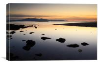 Seamill Sunset, Canvas Print