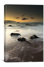 Ayrshire coast sunset, Canvas Print