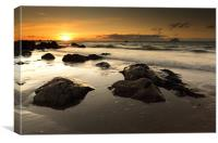 Ayrshire coast Sunset, Canvas Print