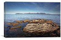 Isle of Arran from Skipness, Canvas Print