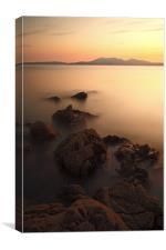 Portencross Sunset, Canvas Print