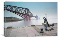 The Forth railway bridge, Canvas Print