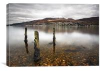 Ben Nevis & Fort william, Canvas Print