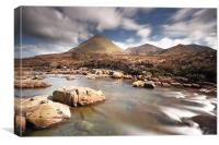 Sligachan mountain scenery, Canvas Print