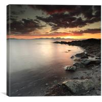 Jura Sunset, Canvas Print