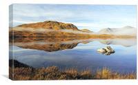 The Black Mount Reflection, Glencoe, Canvas Print