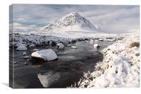 Glencoe winter scenery, Canvas Print