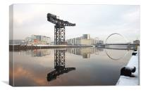 Glagow River Clyde reflections, Canvas Print