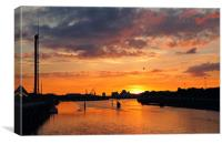 Clyde Sunset, Canvas Print