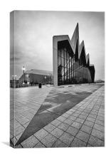 Riverside museum, Canvas Print