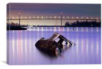 Clyde ship wreck, Canvas Print