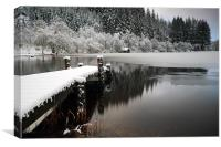 Loch Ard Winter Scene, Canvas Print