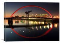 Glasgow Clyde Arc Bridge, Canvas Print