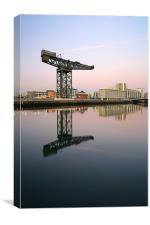 Glasgow River Clyde Reflections, Canvas Print