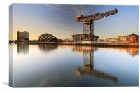 River Clyde Reflections, Canvas Print