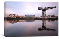 Clyde waterfront reflections, Canvas Print