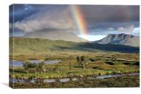 Rannoch Moor Rainbow, Canvas Print