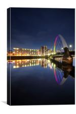 The Glasgow Clyde Arc Bridge, Canvas Print