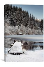 Loch Ard Winter, Canvas Print