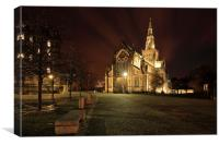 Glasgow Cathedral Night, Canvas Print