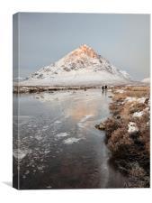 Mountain Sunrise Glencoe, Canvas Print