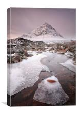 Buachaille Etive Mor Winter , Canvas Print