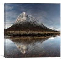 Mountain Reflection Glencoe, Canvas Print