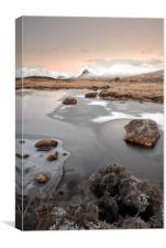 Glencoe Winter Sunrise, Canvas Print