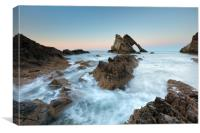 Sunset at Bow Fiddle Rock, Canvas Print