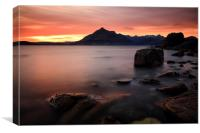 Elgol Rocks, Canvas Print