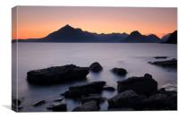 Elgol Red Sunset, Canvas Print