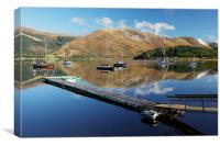Loch Leven  Jetty and Boats, Canvas Print