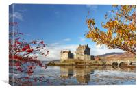 Eilean Donan in Autumn, Canvas Print