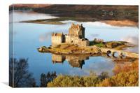 Eilean Donan - Loch Duich Reflection , Canvas Print