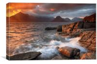 Elgol Stormy Sunset, Canvas Print