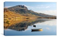 Storr reflection, Canvas Print
