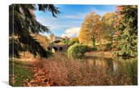 Drummond Castle Gardens, Canvas Print