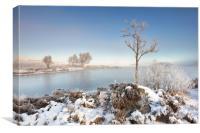 Loch Ba Winter, Canvas Print