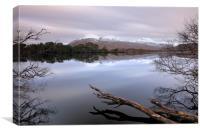 Loch Cul Dromannan Reflections, Canvas Print