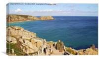 View over the Minack Theatre in Cornwall